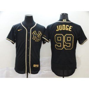 New York Yankees Aaron Judge Black Gold  Jersey